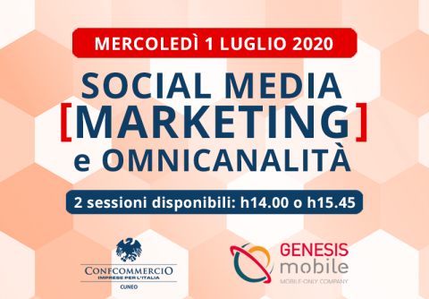 Confcommercio Cuneo Social Media Marketing Webinar Genesis Mobile